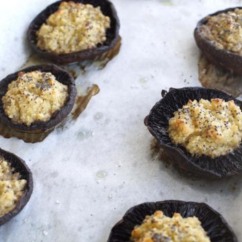 Stuffed mushrooms with cashew cream