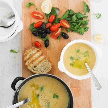 Cypriot louvana soup (yellow split pea)