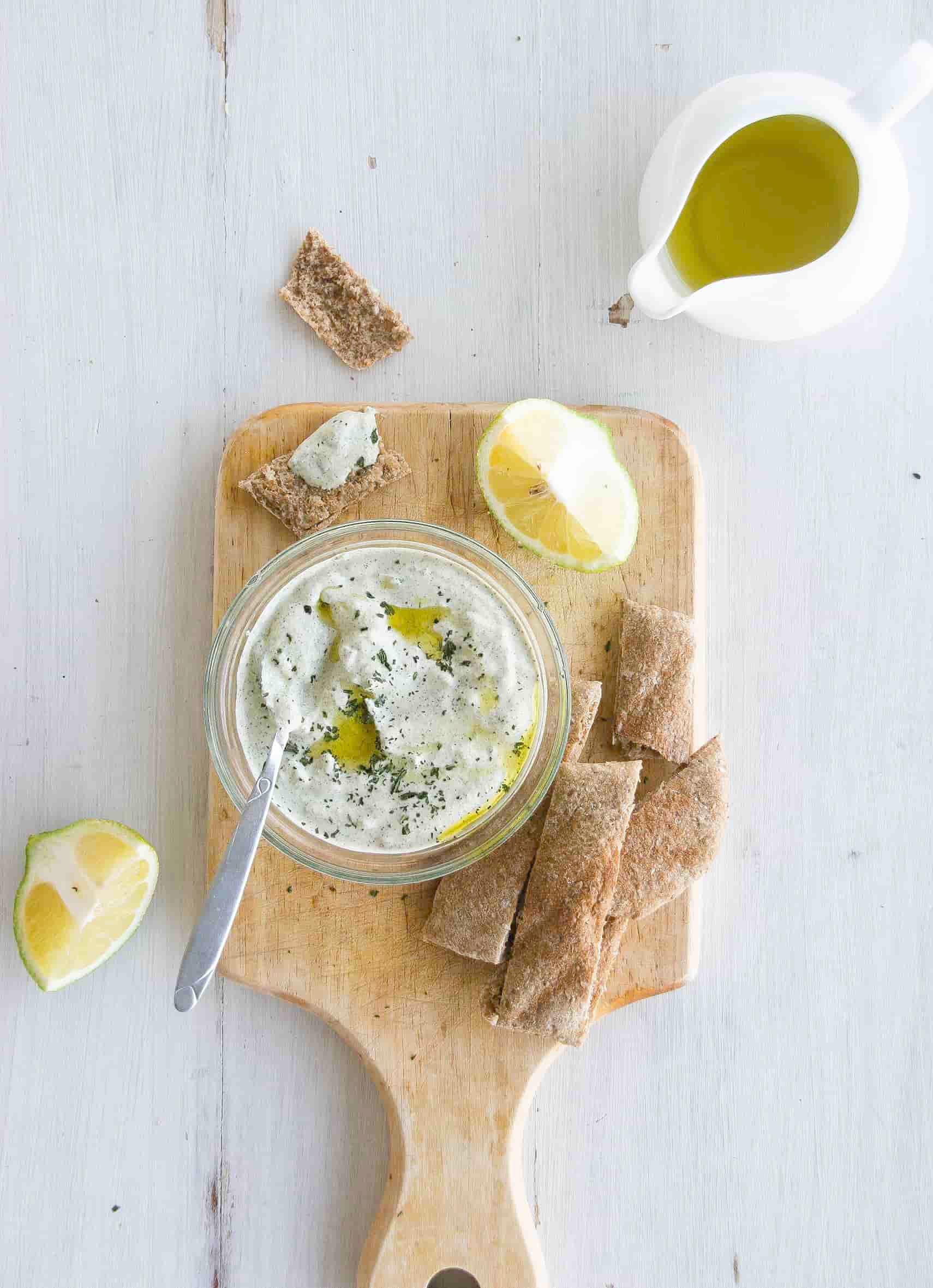 Vegan-tzatziki-dip-recipe-starters-sides-1