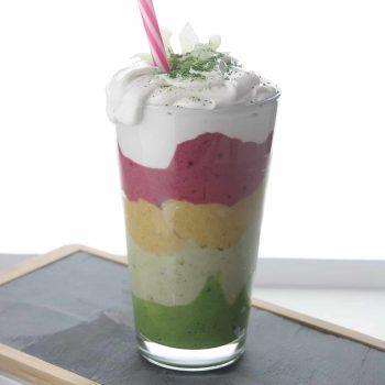 Matcha unicorn smoothie