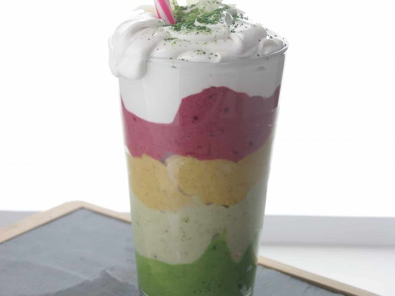 Matcha unicorn smoothie