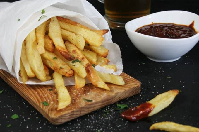 Baked-fries-BBQ-sauce-a-starter-side-recipes