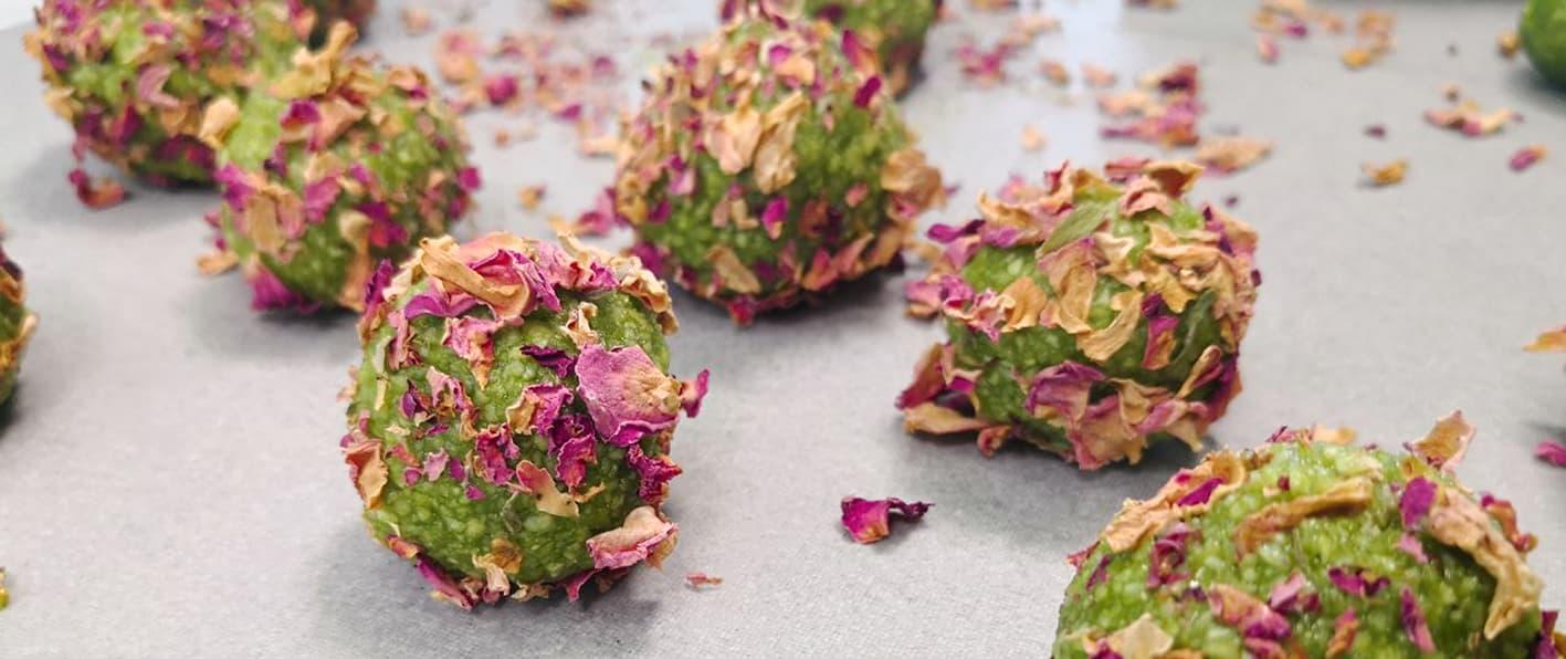 Amygdalota-almond-truffles-matcha-rose-petals-5-recipe-dessert